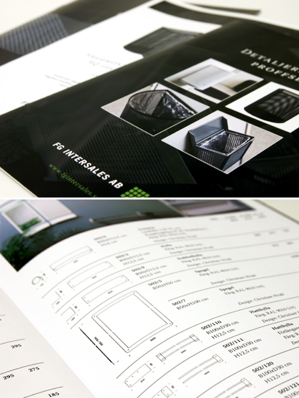 Print Broschyr Prislista Produktblad