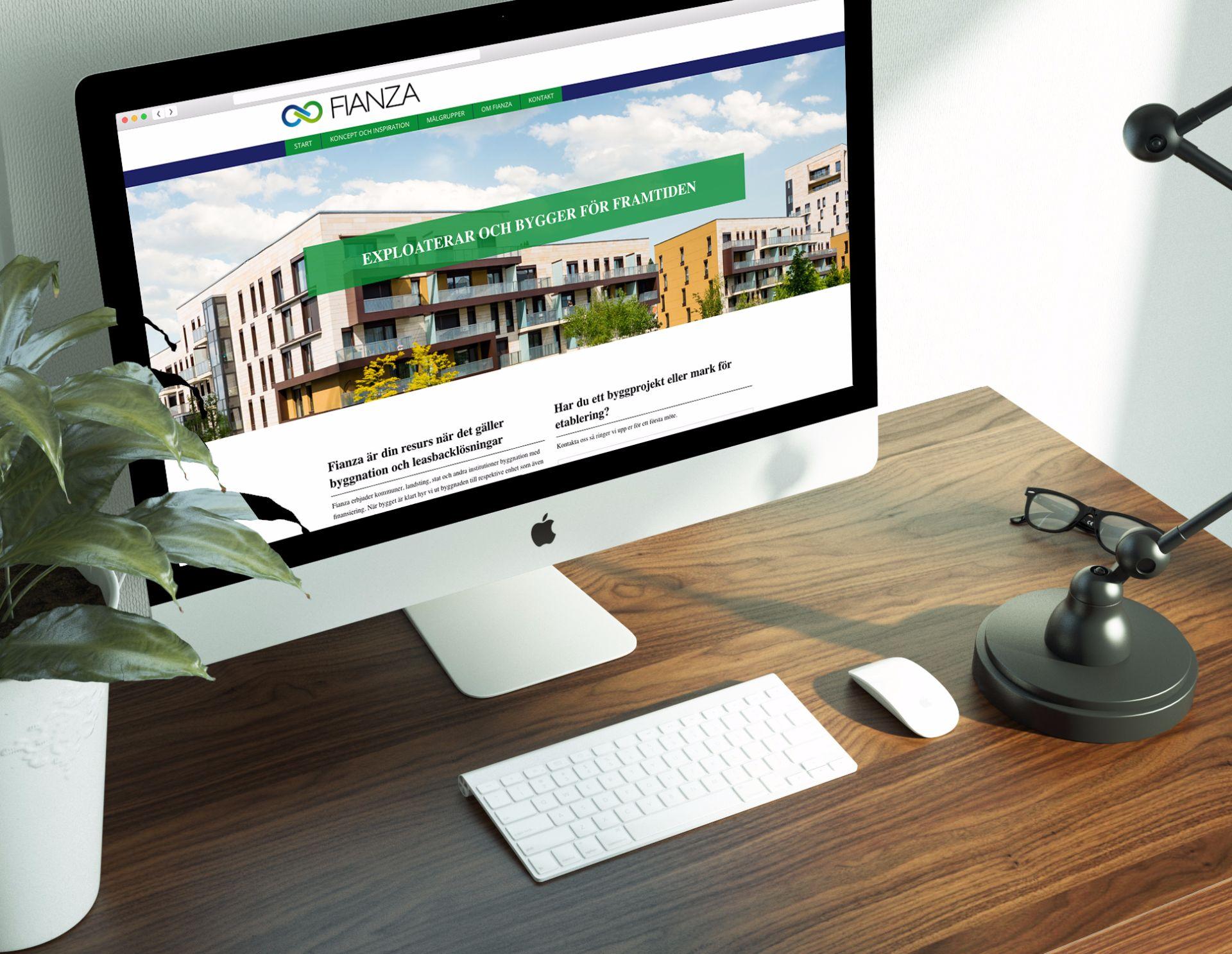 Vi byggde en hemsida för Fianza som exploaterar och bygger för framtiden.